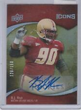 B.J. RAJI 2009 UD ICONS PACKERS BOSTON COLLEGE AUTO RC #D 126/150