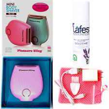 Deluxe Wet-Dry USB Rechargeable Lady Shaver with Lafes Soothe Roll On Deodorant