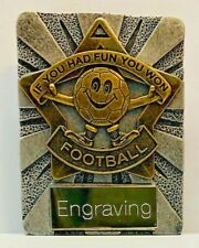 Football Mini Soccer in silver and gold + FREE Engraving & P&P