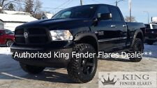 2009-2017 DODGE RAM 1500 RIVET POCKET STYLE Bolt-On KING FENDER FLARES TEXTURED