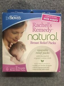 Dr. Browns Breast Relief Packs for Breastfeeding Rachels Remedy Natural 2 Pack