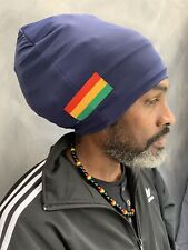 Rasta Turban Bobo Dread dark blue dreadlocks Head Wrap Nyabinghi Turban Locsoc