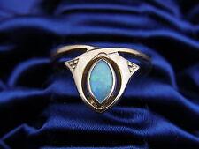 Belle vieil Anneau 333/- Or environ pour 1920 Opal