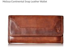 FRYE Melissa Continental Snap Leather Wallet