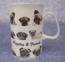 FINE BONE CHINA MUG - PUGSLEY & FRIENDS - PUG - DOG - PUPPY - ASHDENE - N.I.B.
