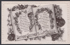 Greetings Postcard - Birthday Greetings To My Dear Sister   RS6633