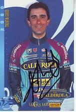 CYCLISME carte cycliste TRENTIN GUIDO équipe VINI CALDIROLA 2000 signée