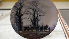 WEDGWOOD QUEENS WARE DECORATIVE PLATE  LOGGING FROM THE FARM YEAR SERIES
