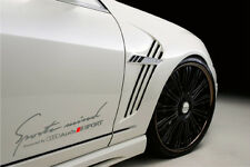 Sports mind Powered by AUDI SPORT RS4 S- Line Decal sticker emblem logo SILVER
