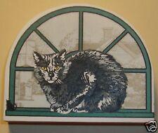 Cat's Meow Village Purebred Cats: American Shorthair Dark Grey