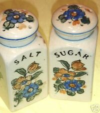 VINTAGE/RARE/SALT & SUGAR SHAKERS/FLORAL/MADE IN JAPAN