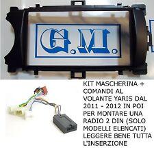 MASCHERINA COMANDI AL VOLANTE RADIO NAVIGATORE GPS 2 DIN TOYOTA YARIS 2011 2014