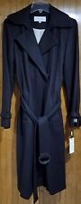 Brown Maxi Wool Coat with Belt by Calvin Klein, Size 8, NWT