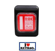 Boton Arcade Credito 0,50€ Iluminado Credit led Pushbutton Recreativa Bartop
