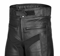 Mens  Leather Motorcycle Trousers  With CE Armour-  Xmas Offer Price