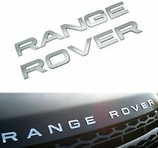 ARGENT MATT RANGE ROVER BRILLANT 3D LOGO EMBLÈME stickers autocollant