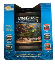 Mini Bow 5 Gallon Acrylic Aquarium Kit With Whisper Power Filter Light Included