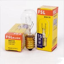 FSL 220/240V 15W E14 Refrigerator Light Cooker Hood Lamp Microwave Oven Bulb