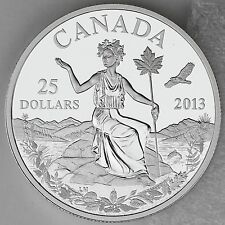 "2013 $25 Canada: An Allegory – 1 oz. Pure Silver Coin – Iconic ""Miss Canada"""
