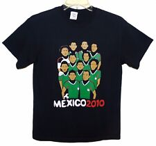 "Sz M MEXICO 2010 SOCCER TEAM ""Si Se Puede..."" Cotton/Poly Black"