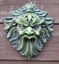 """VERDE Uomo targa sul muro """"DEMON"""" Greenman FOGLIA Uomo Giardino ornamentale"""