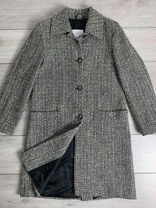 PENNYBLACK Women's Basketweave Wool Alpaca Coat Jacket   UK10   EUR 38   Grey