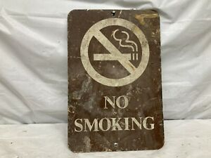 Colourful Shabby Chic Vintage Sign No Smoking dekoschild Door Sign Light Blue with D