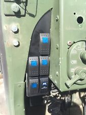 LIGHTED ROCKER SWITCH PANEL - 5 GANG - CHOICE OF SWITCHES - M998 MILITARY HUMVEE