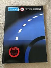 The London Motor Show Earls Court Brochure 1989 Great Condition!