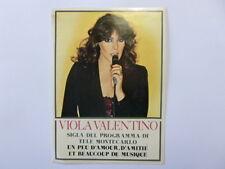 VECCHIO ADESIVO ORIGINALE / Old Original Sticker VIOLA VALENTINO (cm 10x13)