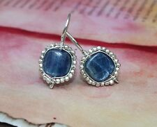 Kyanite Hill Tribe Thai Siilver Sterling Wire Wrapped Earrings Handcrafted