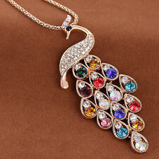 New Charm Sweater Chain Peacock Pendants Fashion Plated Diamond Women Necklaces