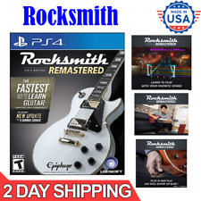 Rocksmith 2014 Edition Remastered With Real Tone Cable PS4 Version New6