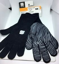 Sportful Impronta Bike Full Finger Silicone Grip Knitted Cycling Gloves in Black S