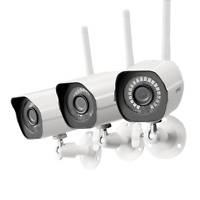 Zmodo 3 720p HD WiFi Outdoor Home Wireles IP Security Camera System Night Vision