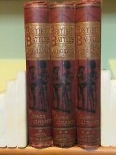 British Battles by land & Sea-James Grant-3 vols set red - illustrated