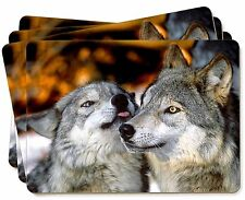 Wolves  in Love Picture Placemats in Gift Box, AW-9P