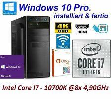 Office Komplett PC System Intel i7 10700K 8x 3,80GHz 32GB RAM 2000GB SSD 4TB