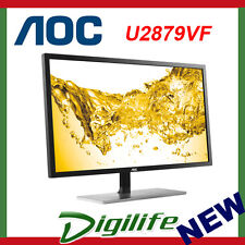 "AOC U2879VF 28"" 4K UHD FreeSync Gaming Monitor VGA DVI HDMI DP MHL"