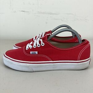 Vans Unisex Authentic Shoes Red Mens US 8 Womens US 10 Hardly Worn Free Postage