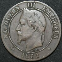 1862 BB | France 10 Centimes | Bronze | Coins | KM Coins