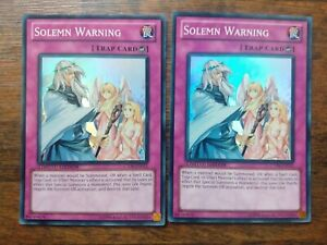 CT08-EN015 Solemn Warning Super Rare Mint Yu-Gi-Oh! Card 2 CARDS LIMITED EDITION