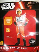 Star Wars X-WING FIGHTER PILOT Child Costume Small (4-6) w/ 2 pc Mask Rubies NEW