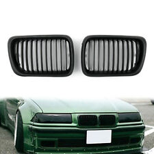 Front Replacement Matt Black Kidney Grille For BMW E36 1997-1999 3 Series UE