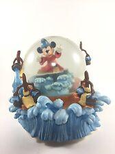 Disney Mickey Mouse Sorcerers Apprentice musical snow globe Rare Fantasia