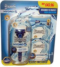 14 X Blades Wilkinson Sword Hydro 5 + Pack De Maquinilla de Afeitar Mango-Multi