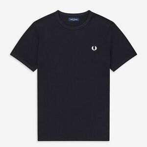 Fred Perry M3519 Ringer T Shirt Navy, Mod Ska, Scooter, SALE