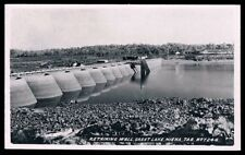Tasmania • Real Photo Ash Bester Postcard (#T246) • Retaining Wall, Great Lake