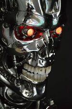 LED 1:1 Terminator T800 Skull Endoskeleton Lift-Size Bust Resin Statue New