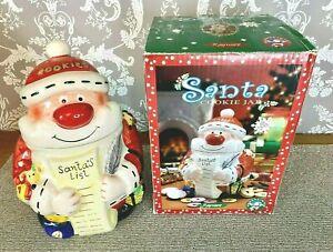 Large Santa Claus Father Christmas Ceramic Cookie Jar /  Biscuit Barrel /Storage